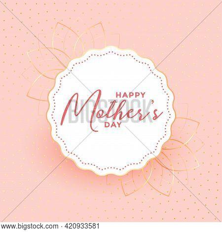 Happy Mothers Day Elegant Pastel Color Card Design