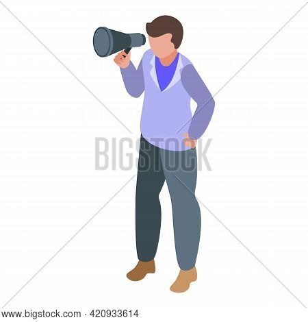 Successful Career Man Icon. Isometric Of Successful Career Man Vector Icon For Web Design Isolated O