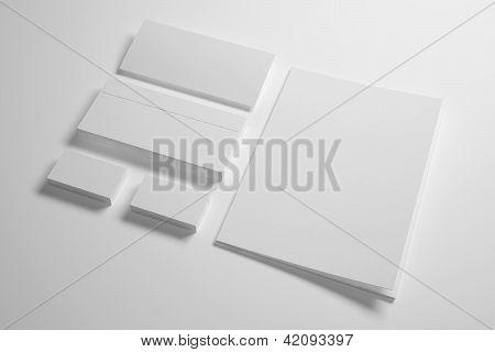 Envelopes Business card folder and envelope isolated on white