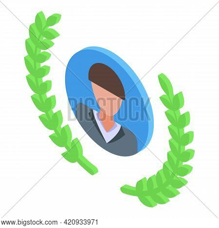 Successful Career Prize Icon. Isometric Of Successful Career Prize Vector Icon For Web Design Isolat