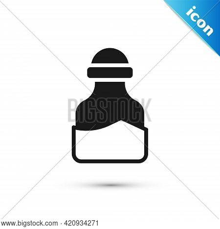 Grey In Can Icon Isolated On White Background. Seasoning Collection. , Condiments In A Glass Can. Ve