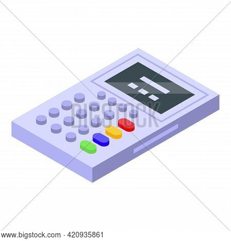 Electronic Patient Card Calculator Icon. Isometric Of Electronic Patient Card Calculator Vector Icon