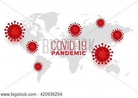 Global Covid19 Coronavirus Spread Pandemic Infection Background