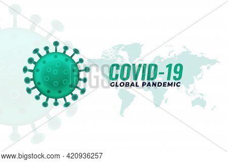 Covid19 Coronavirus Pandemic Infection Outburst Background Design