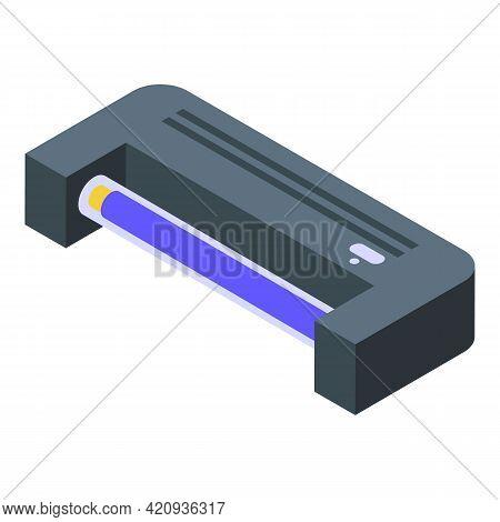 Uv Lamp Equipment Icon. Isometric Of Uv Lamp Equipment Vector Icon For Web Design Isolated On White