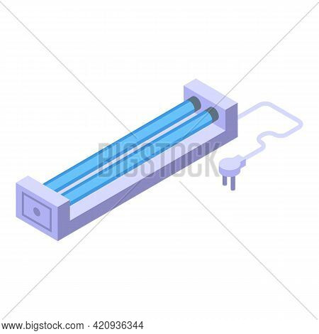 Uv Lamp Room Icon. Isometric Of Uv Lamp Room Vector Icon For Web Design Isolated On White Background