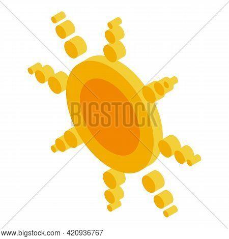 Solarium Sun Icon. Isometric Of Solarium Sun Vector Icon For Web Design Isolated On White Background