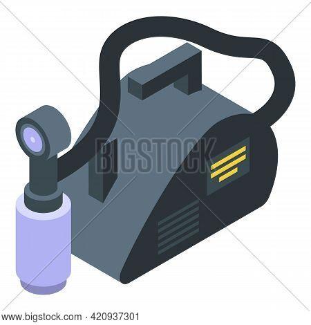 Solarium Equipment Icon. Isometric Of Solarium Equipment Vector Icon For Web Design Isolated On Whit