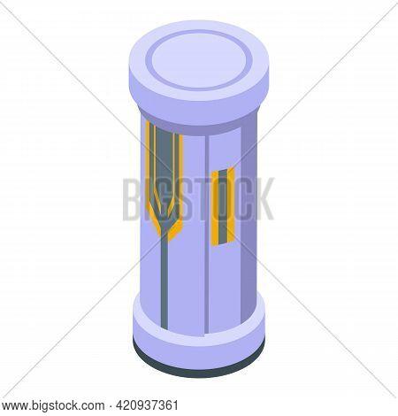 Solarium Hot Cabin Icon. Isometric Of Solarium Hot Cabin Vector Icon For Web Design Isolated On Whit