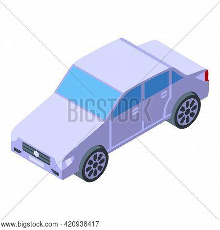 Buying Sedan Car Icon. Isometric Of Buying Sedan Car Vector Icon For Web Design Isolated On White Ba