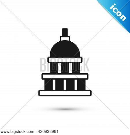 Grey White House Icon Isolated On White Background. Washington Dc. Vector