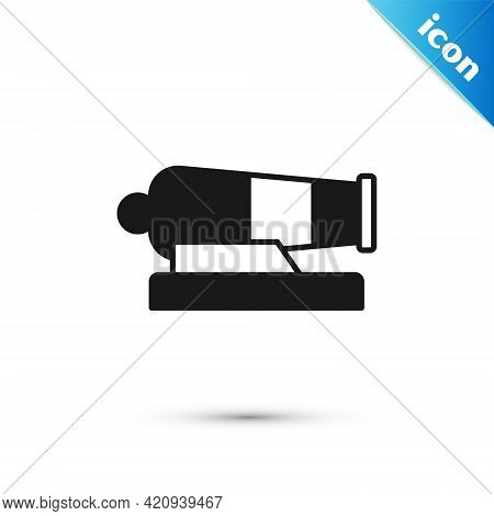 Grey Cannon Icon Isolated On White Background. Vector