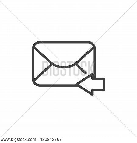 Reply Mail Message Line Icon. Linear Style Sign For Mobile Concept And Web Design. Responding Email