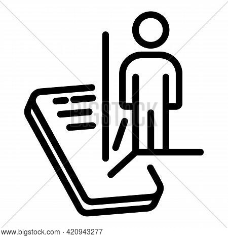 Virtual Reality Scanning Icon. Outline Virtual Reality Scanning Vector Icon For Web Design Isolated