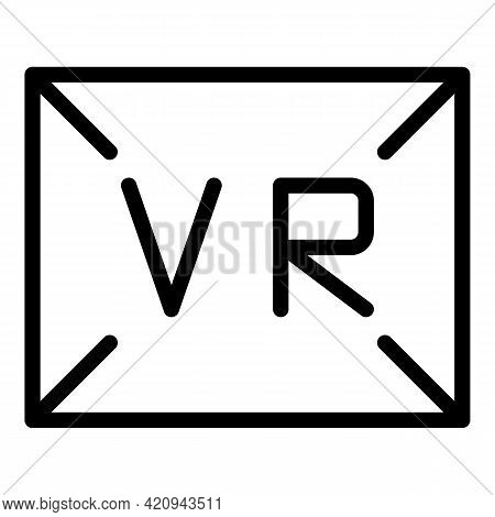 Vr Angle Icon. Outline Vr Angle Vector Icon For Web Design Isolated On White Background