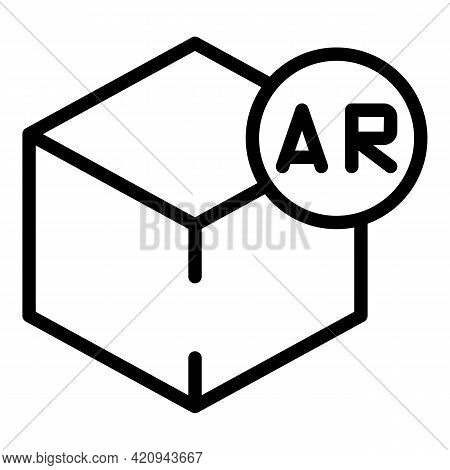 Ar Projection Icon. Outline Ar Projection Vector Icon For Web Design Isolated On White Background