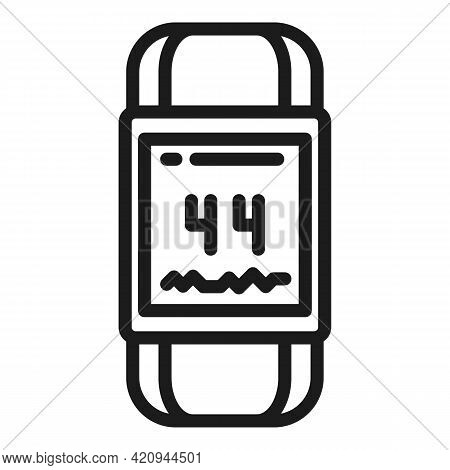 Activity Tracker Band Icon. Outline Activity Tracker Band Vector Icon For Web Design Isolated On Whi