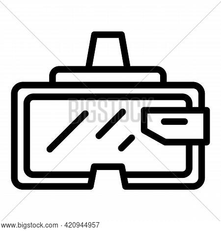 Digital Vr Goggles Icon. Outline Digital Vr Goggles Vector Icon For Web Design Isolated On White Bac