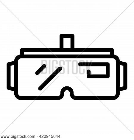 Goggles Visual Icon. Outline Goggles Visual Vector Icon For Web Design Isolated On White Background