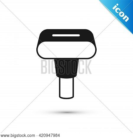 Grey Portable Home And Travel Garment Steamer For Clothes Icon Isolated On White Background. Vector