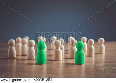 One Woman And One Man Were Chosen By The People. Human Resources Selects The Leaders Of Each Group,
