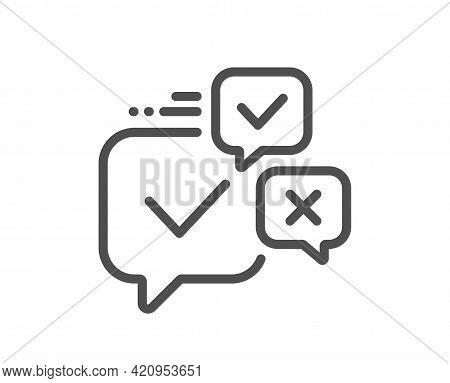 Online Voting Line Icon. Internet Vote Sign. Web Election Symbol. Quality Design Element. Linear Sty
