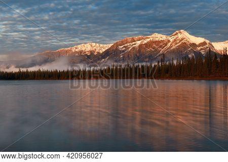 Sunrise with beautiful scene in Jasper National Park in Canada