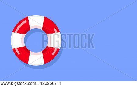 Life Preserver Buoy Ring Help Icon. Lifebuoy Saver Raft Swim Vector Jacket