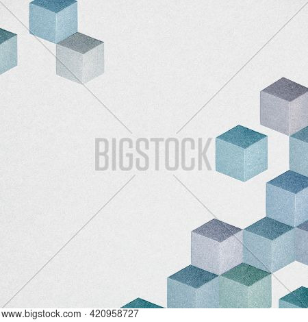 Abstract cubic patterned background cubic