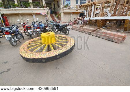18th June 2014 Puri Odisha India :preparations Are Underway For Jagannathdev's Rath Yatra In Puri. O