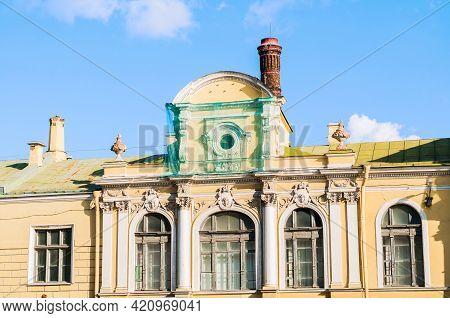 Saint Petersburg, Russia-october 3, 2016. Salt Town - A Complex Of Buildings In The Center Of St Pet