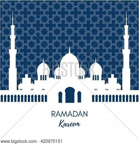 Ramadan Kareem Beautiful Greeting Card And Banner Background Design Illustration