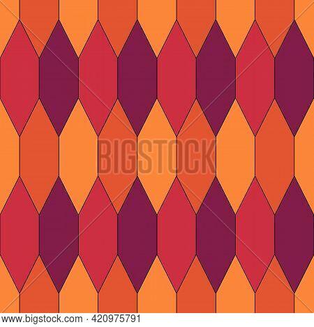 Seamless Pattern. Oriental Traditional Ornamentation. Hexagon, Picket Shapes Wallpaper. Ancient Mosa