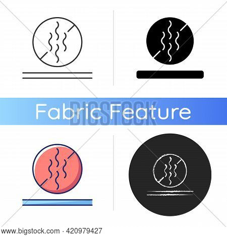 Odor Resistant Textile Feature Icon. Fiber Property For Suppressing Sweat Odor. Special Material For