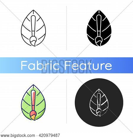 Natural Dye Textile Icon. Eco Friendly Fabric Feature. Healthy Lifestyle Staining Material Option. T