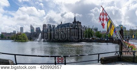 View Of The Dutch Parliament Building Binnenhof In The Center Of Downtown Den Haag
