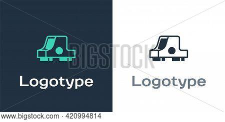 Logotype Collimator Sight Icon Isolated On White Background. Sniper Scope Crosshairs. Logo Design Te