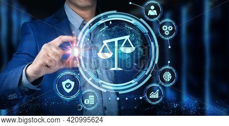 Business, Technology, Internet And Network Concept. Labor Law, Lawyer, Attorney At Law, Legal Advice