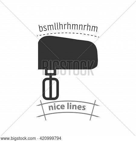 Kitchen Mixer Simple Vector Icon. Kitchen Mixer Isolated Icon