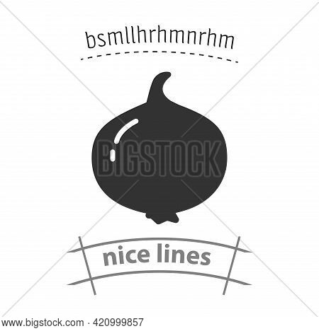 Onion Simple Vector Icon. Onion Isolated Icon
