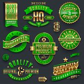 Quality and guaranteed - vector signs, emblems and labels poster