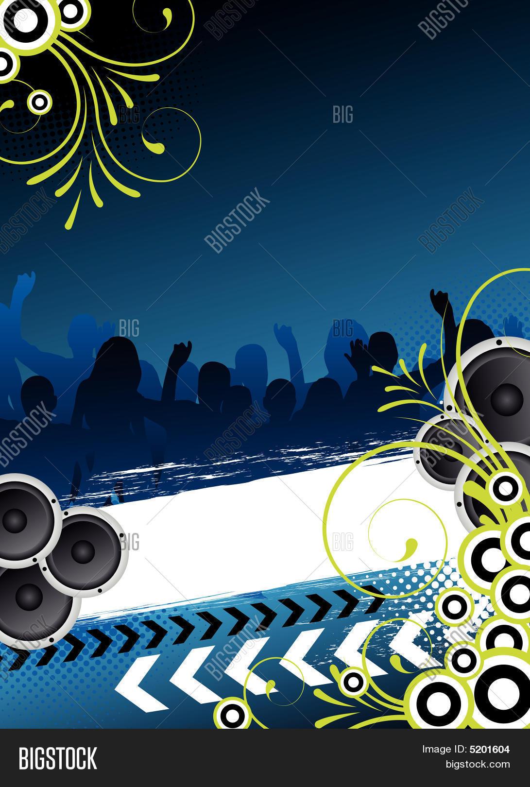 Conhecido Blue Party Flyer Design Vector & Photo | Bigstock TB28