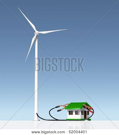 Wind Generator Supplies A Small House