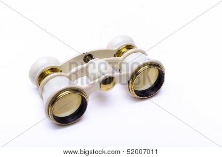 Opera Glasses On White