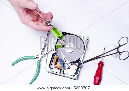 Injection In To Hard Drive
