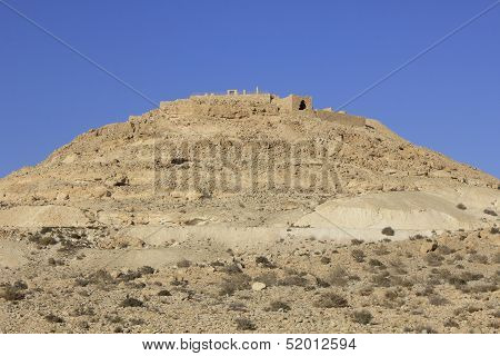To hill of Avdat, the ancient city of Nabateans People