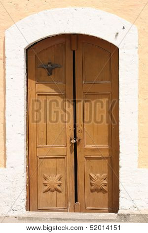 Door of a Stone Church