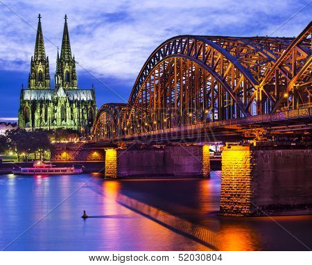 Cologne Cathedral in Cologne, Germany.