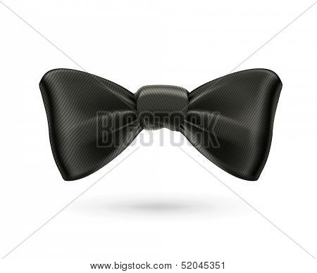 Bow tie, black vector poster
