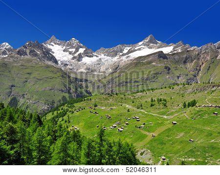 Ober Gabelhorn and Zinalrothorn - Swiss alps